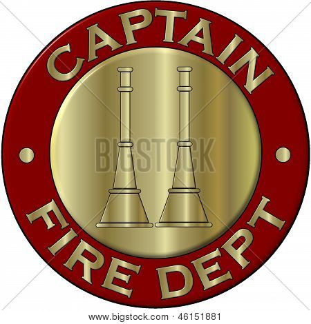 Fire Department Captian Collar Brass