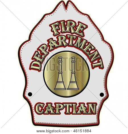 Fire Department Captian Helmet Shield
