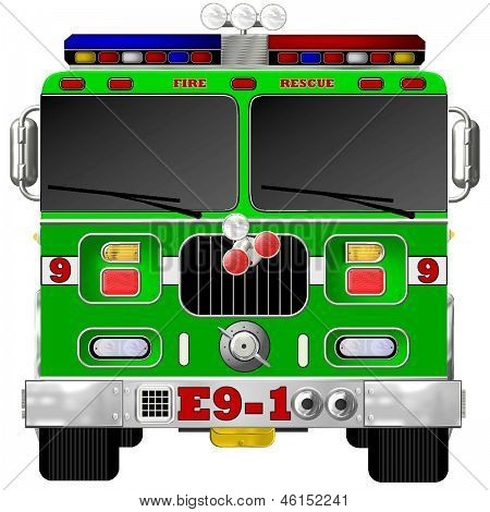Green Fire Engine
