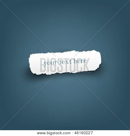 Scrap Of Fragmentary Paper