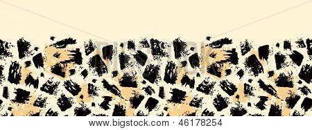 Animal brush stroke horizontal seamless pattern background