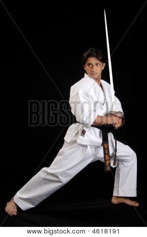 A Martial Arts Master With A Sword