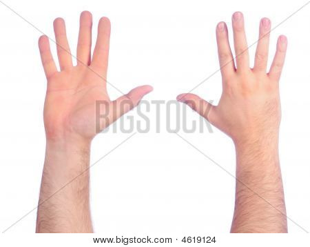 Male Hands Counting