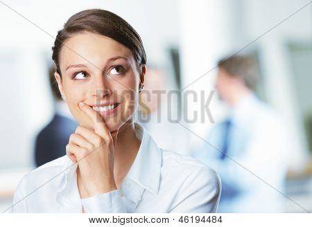 Smiling Young Business Woman