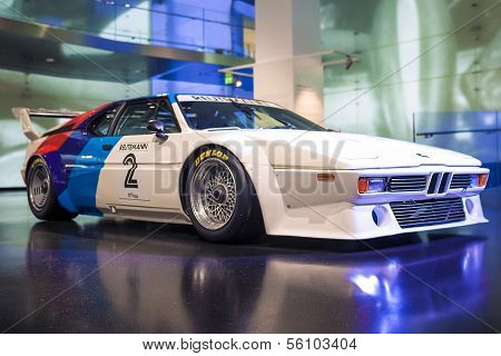 MUNICH, GERMANY - JUNE 17, 2012: Bmw's Unique M1 Sportcar Demonstrating On Stand In Bmw Museum on Ju