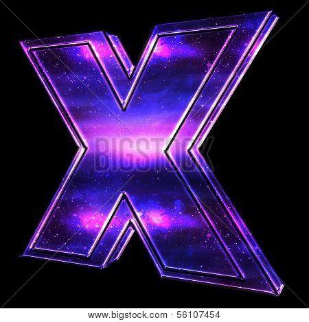 X Symbol With Celestial Design