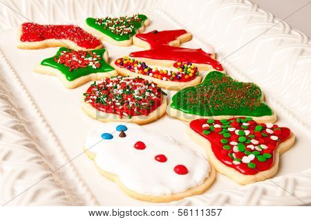 A platter of Christmas cookies