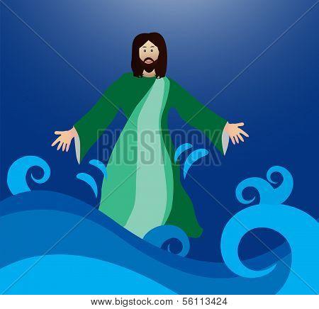 Jesus walking on the water