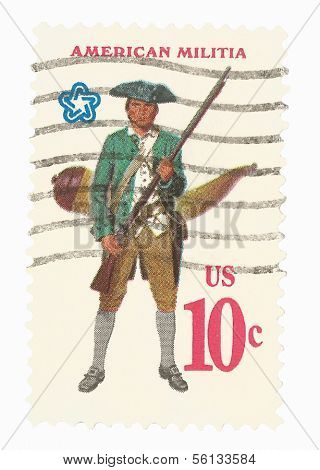 United States Stamp of the American Militia
