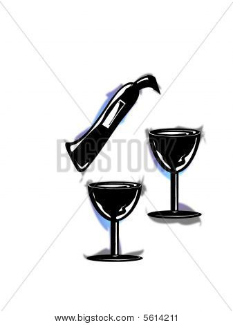 Wine with glasses