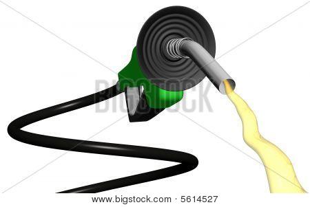 Spiral Gas Pump Flowing