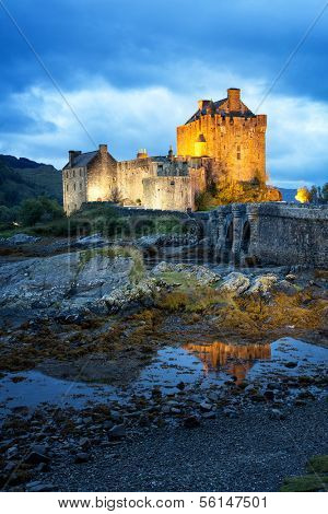 Eilean Donan Castle on Loch Duich, Kyle of Lochalsh, Western Highlands, Scotland.