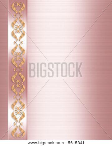 Wedding Invitation Elegant Pink
