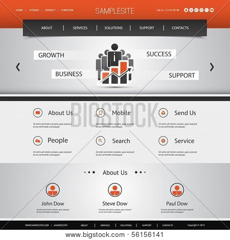 Business, Connection, Network - Website Template