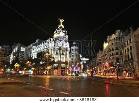 Gran Via Street, Madrid.