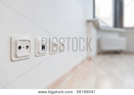 Sockets in the new apartment