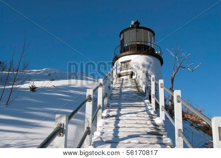 Owl's Head Lighthouse After Winter Storm