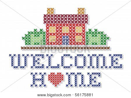 Embroidery, Welcome Home Cross Stitch