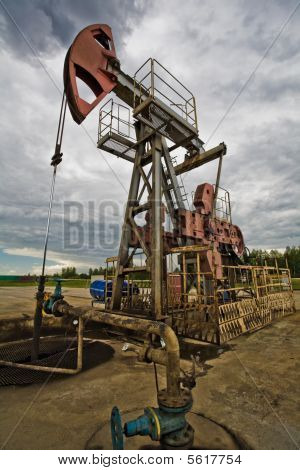 Oil Pump In The Field