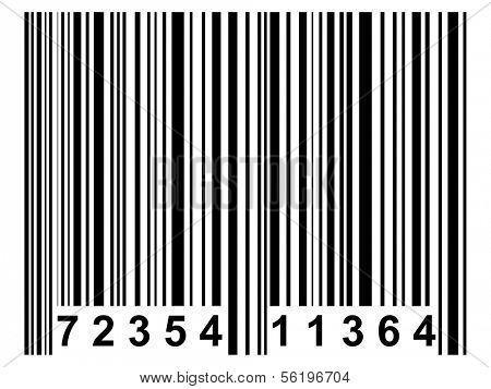 A simple black barcode like it is used on nearly all products