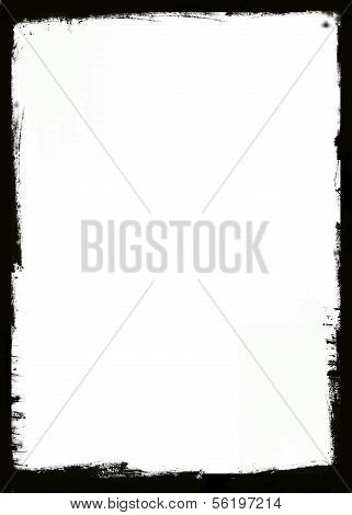 poster of Grunge frame with black inky splashes. Space for acidic designs, text, picture, etc.