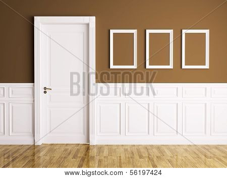 Interior With Door And Frames