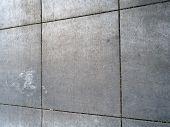 Dirty Square Pattern Grey Sidewalk Pattern Texture. poster