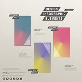 modern vector abstract cone gradient infographic elements poster