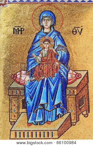 Mosaic of the Madonna and Child