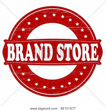 Stamp with text brand store inside vector illustration poster