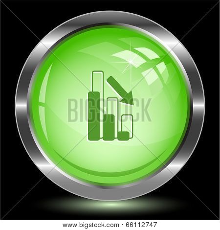 Graph degress. Internet button. Vector illustration.