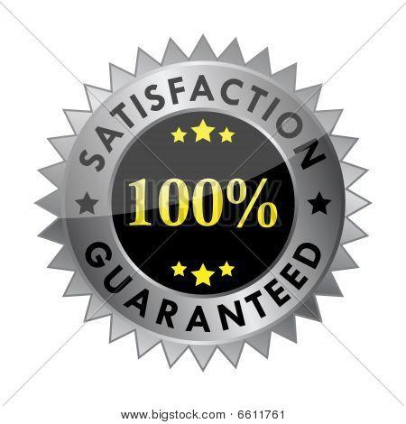 100% satisfaction guaranteed label (vector)