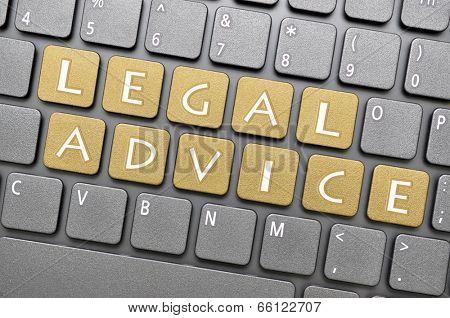 Legal advice key on keyboard