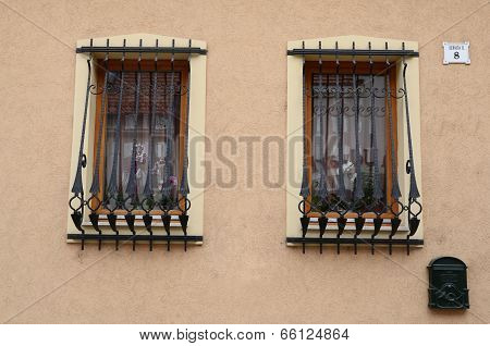 window of the building with bars