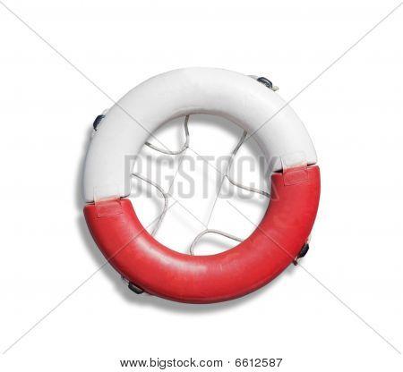 Life belt Over White