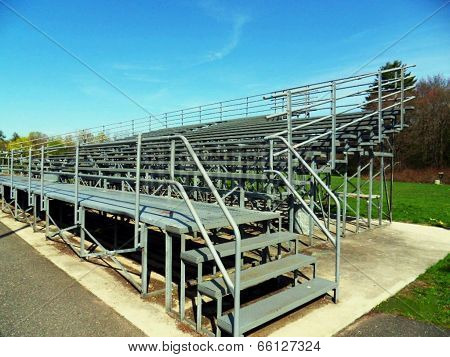Outdoor Gray Metal Bleachers