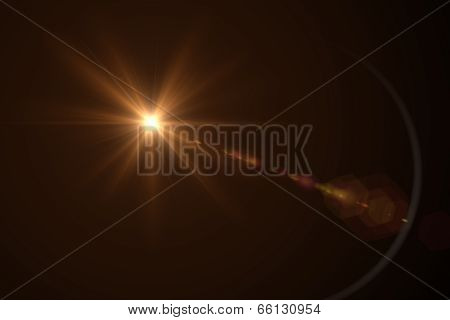 digital lens flare red