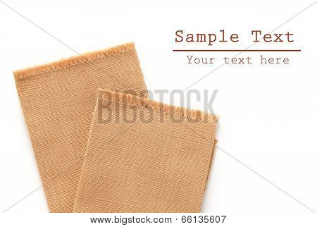 brown cotton isolated on a white background poster