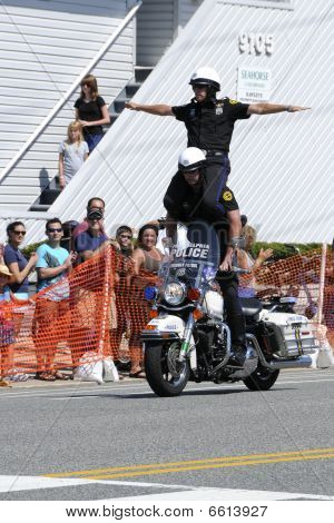Hero Thrill Show Two Men Standing Stunt