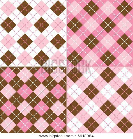 Four Argyle Patterns