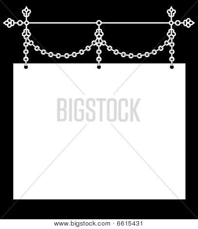 Hanging Wrought Iron Sign