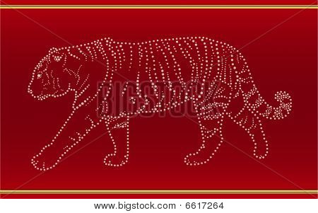Band mit einem tiger