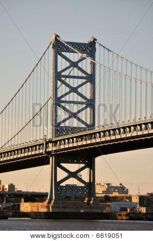 The Walt Whitman Bridge in Philadelphia, PA.