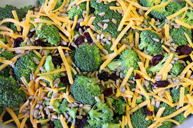 Broccoli Salad Ingredients Close Up