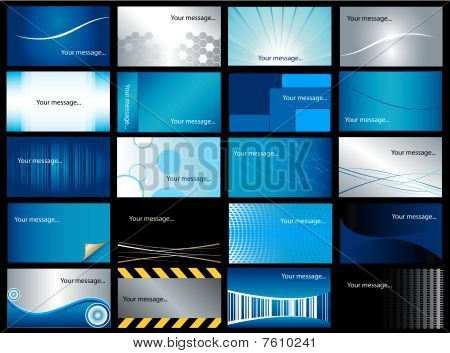 Set of 20 business vector cards