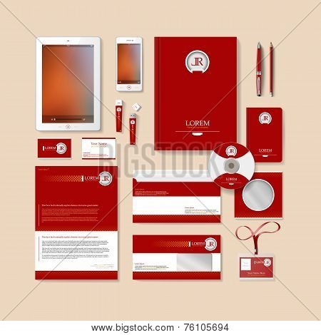 Red Business Style Design.