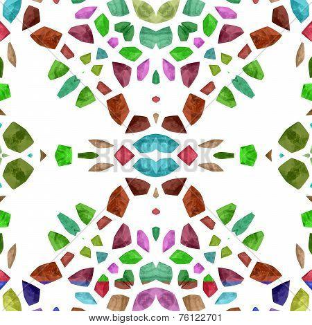 Abstract tileable decorative kaleidoscope sidebar