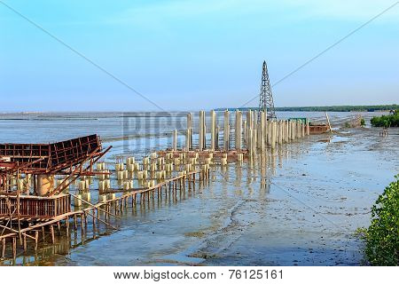 Coastal Road Construction Site, Chonburi, Thailand