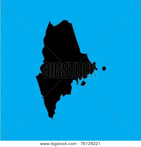 Coloured Background With The Shape Of The United States State Of Maine