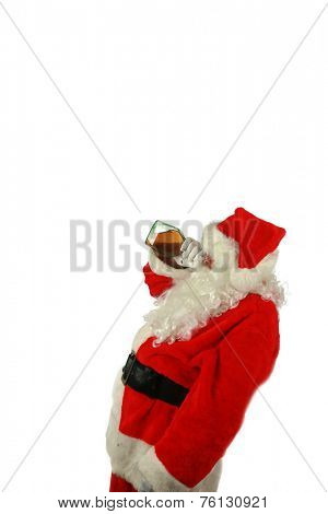 Bad Santa. Santa Claus has been a Bad Bad Boy this season. Some nice person left him a bottle of Brandy as a thank you gift for Christmas and he drank the whole bottle at once. Santa loves Brandy
